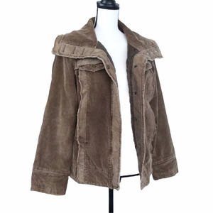 BKE Brown Corduroy Jacket Button Front Insulated M